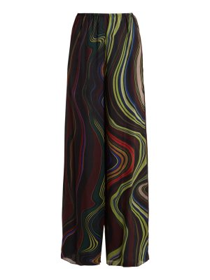 BY. BONNIE YOUNG By. Bonnie Young - Asylum Print Wide Leg Silk Chiffon Trousers