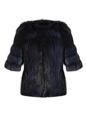 BY. BONNIE YOUNG Collarless fur jacket