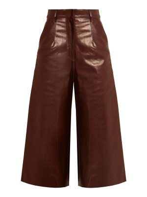 BY. BONNIE YOUNG High-rise leather culottes