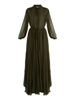 BY. BONNIE YOUNG By. Bonnie Young - Long Sleeved Silk Chiffon Gown