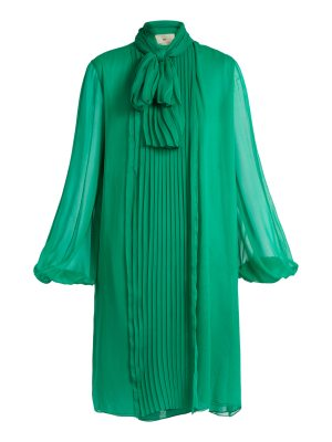 BY. BONNIE YOUNG By. Bonnie Young - Neck Tie Silk Chiffon Dress