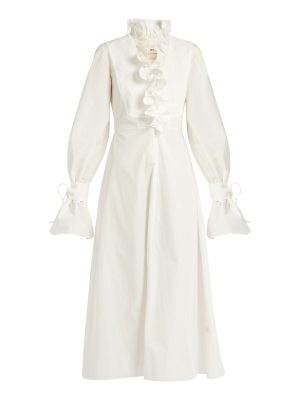 BY. BONNIE YOUNG By. Bonnie Young - Ruffled Neck Cotton Dress