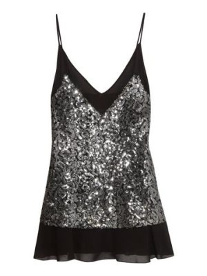 By Malene Birger sequinned chiffon top
