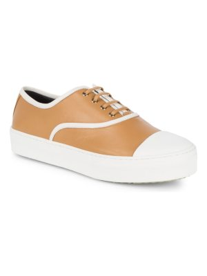 C line Two-Tone Leather Sneakers