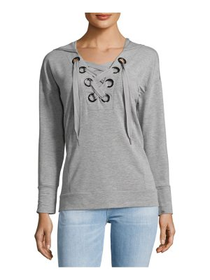 Cable & Gauge Long Sleeve Lace-Up Hoodie