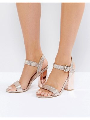 Call it Spring Call It Spring Burgersdorp Pink Glitter Two Part Heeled Sandals