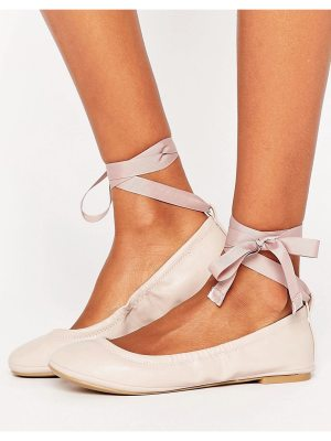 Call it Spring Call It Spring Conboy Blush Ribbon Tie Ballet Flat Shoes