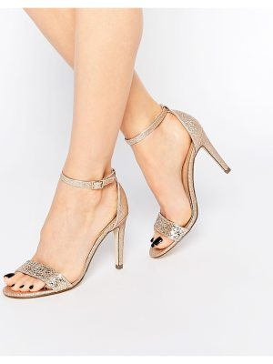 Call it Spring Call It Spring Waylanda Gold Two Part Heeled Sandals