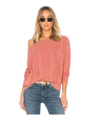 Callahan Cable Knit Off the Shoulder Sweater