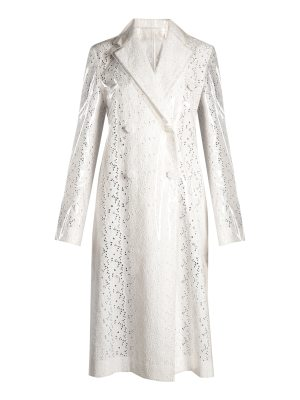 CALVIN KLEIN 205W39NYC coated overlay broderie anglaise coat