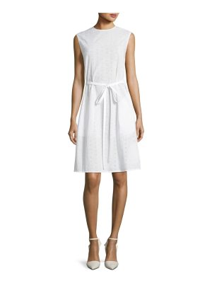 CALVIN KLEIN 205W39NYC Crewneck Sleeveless Embroidered Cotton Dress