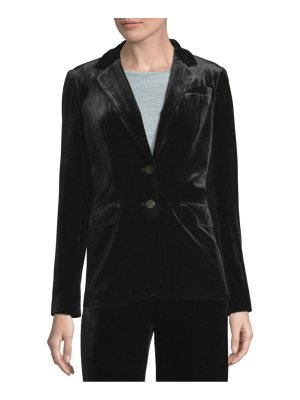 Calvin Klein Velvet Two-Button Jacket