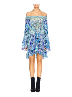 Camilla chinese whispers a-line frill dress