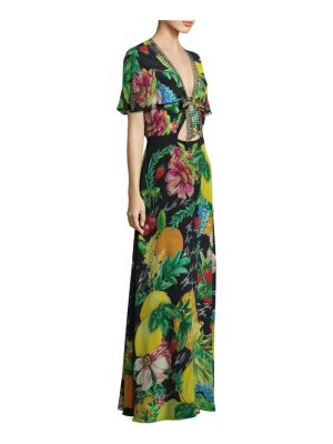 Camilla floral silk maxi dress