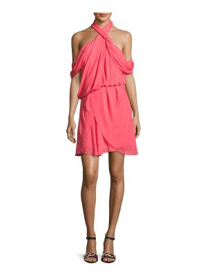 camilla and marc Lou Lou Draped Cold-Shoulder Cocktail Dress