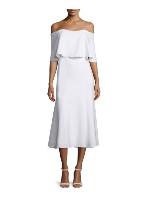 camilla and marc Off-The-Shoulder Midi Cocktail Dress