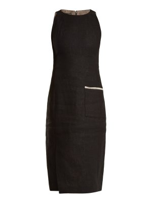 CARL KAPP Jaguar sleeveless linen dress
