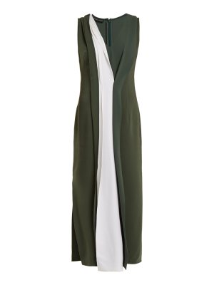 CARL KAPP safari bi colour stretch cady dress