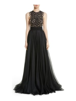 Carmen Marc Valvo Couture carmen marc valvo embroidered organza gown