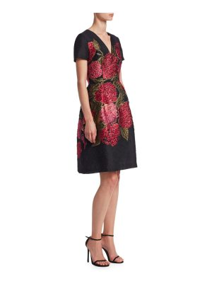 Carolina Herrera floral fit-&-flare dress