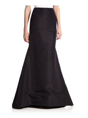 Carolina Herrera silk faille long trumpet skirt