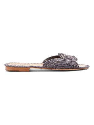CARRIE FORBES Naima raffia slides