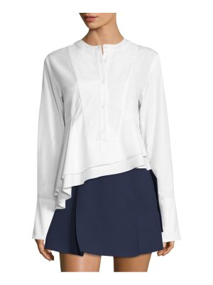 Carven asymmetrical poplin cotton top