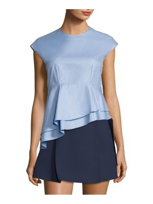 Carven babydoll asymmetrical cotton top
