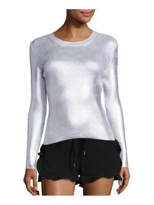 Carven Cotton Blend Ribbed Top