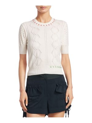 Carven knit wool top