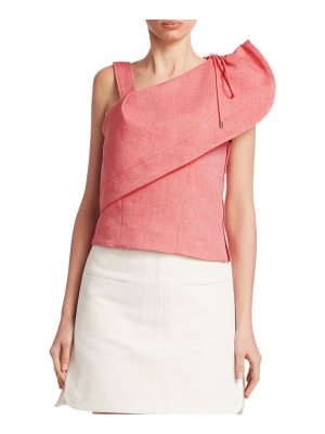 Carven one shoulder chambray top
