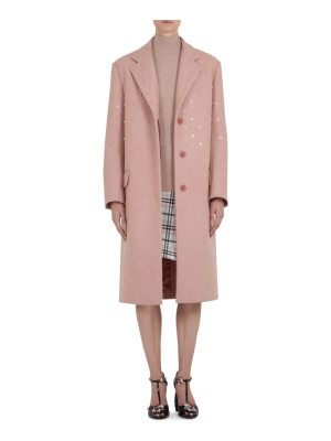 Carven pearl three button coat