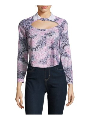 Carven Printed Long-Sleeve Cotton Shirt