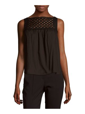 Carven Solid Cutout Cotton Top