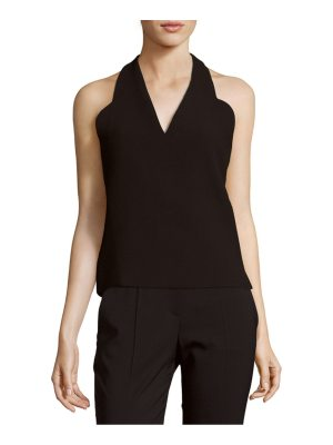 Carven Solid Open-Back Top