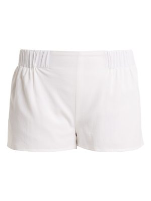 CASA NATA Elasticated-waist cotton-gauze shorts