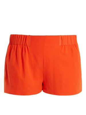 CASA NATA Elasticated Waist Cotton Gauze Shorts