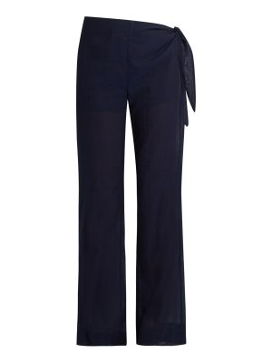 CASA NATA Tie Side Cotton Voile Trousers