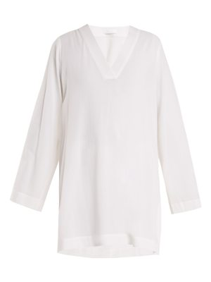 CASA NATA Zen V Neck Cotton Gauze Tunic Dress
