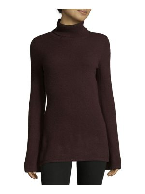 Cashmere Saks Fifth Avenue Bell-Sleeved Cashmere Turtleneck