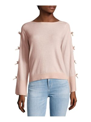 Cashmere Saks Fifth Avenue Bow-Sleeve Sweater