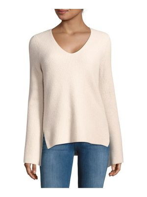 Cashmere Saks Fifth Avenue Flare-Sleeve Cashmere Sweater