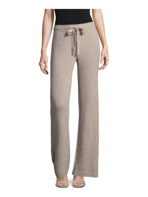 Cashmere Saks Fifth Avenue Ribbed Wide Leg Cashmere Pants