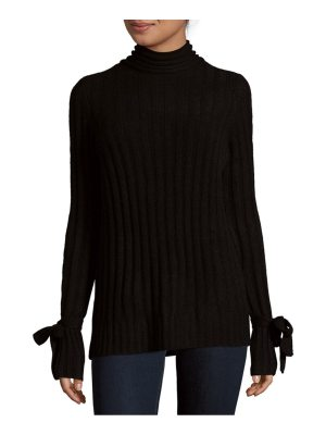 Cashmere Saks Fifth Avenue Tie Sleeve Cashmere Sweater