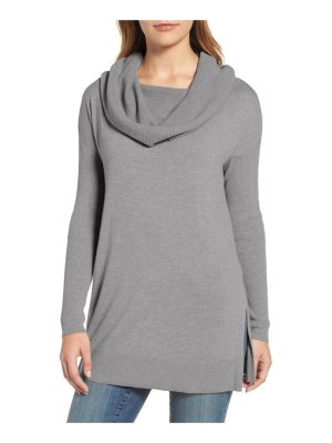 Caslon caslon side slit convertible cowl neck tunic