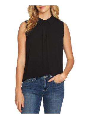 CeCe by Cynthia Steffe collared pleat front blouse