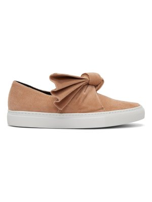 CÉDRIC CHARLIER Corduroy Bow Slip-On Sneakers