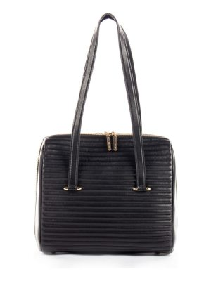 CELINE DION vibrato quilted leather satchel