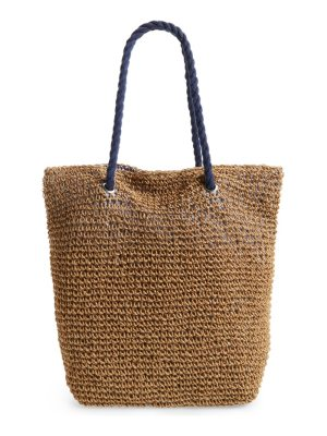 Cesca rope & straw tote