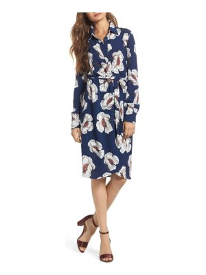 Charles Henry floral shirtdress